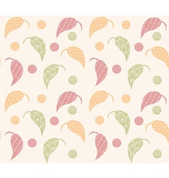 Seamless pattern with hand drawn leaves vector