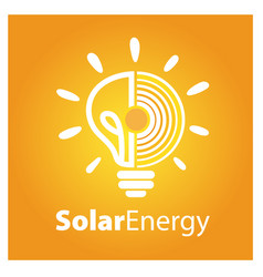 solar energy logo icon vector image