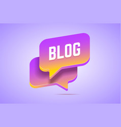 Two speech bubbles in 3d style with gradients that vector