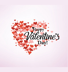 valentines day card stylized template vector image