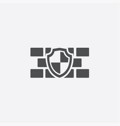 wall shield icon vector image