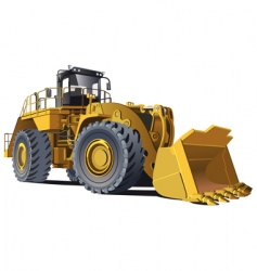 wheel loader vector image
