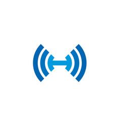 Wifi letter h logo icon design vector