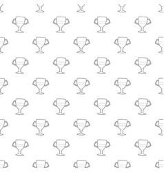 winner cup pattern seamless vector image