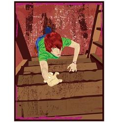 woman climbing vector image