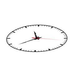 color sticker clock icon vector image