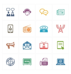 Communication Icons Set 2 - Colored Series vector image