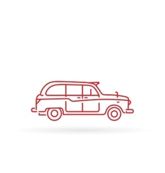 London taxi black cab vector image