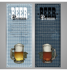 Premium beer menu design vector image