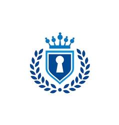 secure shield law tax emblem logo vector image