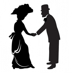 victorian couple vector image vector image