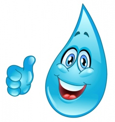 water drop cartoon vector image vector image