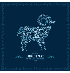 2015 curly sheep vector image