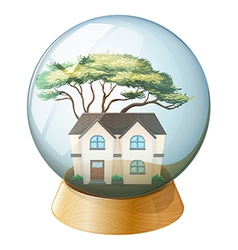 A house inside the crystal ball vector image