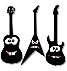 cartoon character guitars vector image vector image