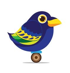 crow bird cute cartoon abstract vector image vector image