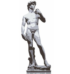 Michelangelos David vector image