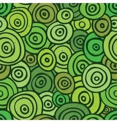 Pop art retro seamless pattern green vector image vector image