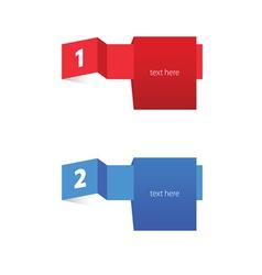 tag label color vector image