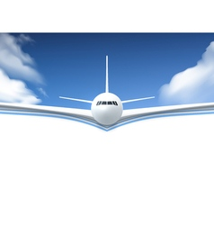 Airplane Realistic Poster vector image vector image