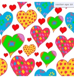 different hearts vector image