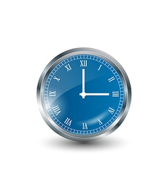Realistic blue modern clock vector image