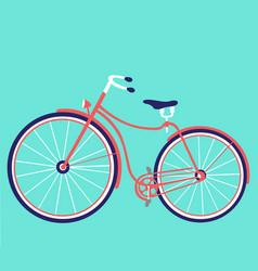 retro female bike vintage bicycle vector image