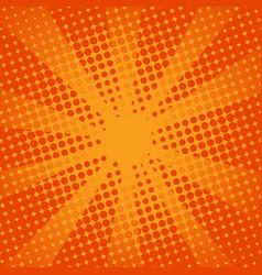 Retro rays comic orange background vector