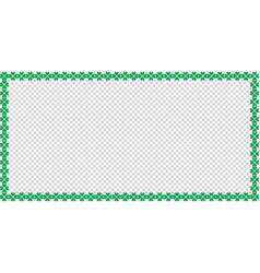 Saint patricks day rectangle border made of clover vector