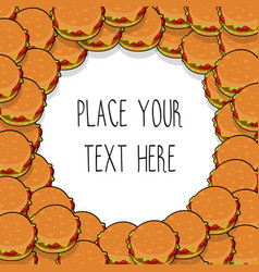 template with many hamburgers vector image vector image