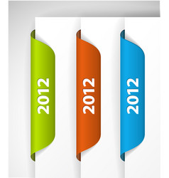 2012 labels stickers vector image