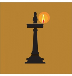divine lamp vector image vector image