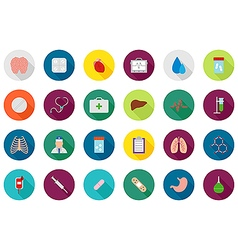 Medicine round icons set vector image vector image