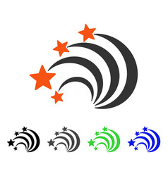 Star tail flat icon vector