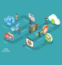 3d isometric conceptual web vector