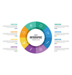8 points circular infographic element template vector