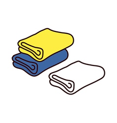 A view of towels vector image