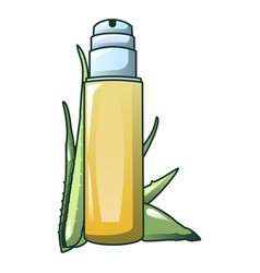 aloe vera spray icon cartoon style vector image