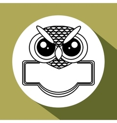 Animal design owl icon Isolated vector image
