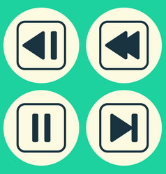 audio icons set collection of last song mute vector image