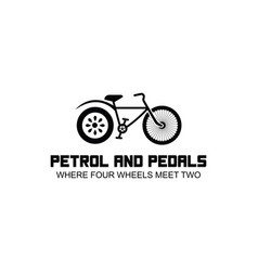 Automotive logo petrol and pedals where four vector