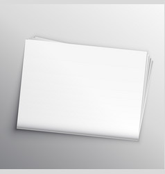 Blank newspaper mockup design template vector