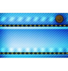 Blue Denim Backdrop vector image
