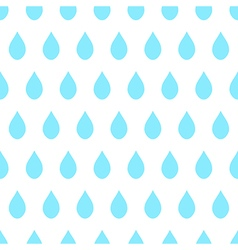 Blue Rain White Background vector image