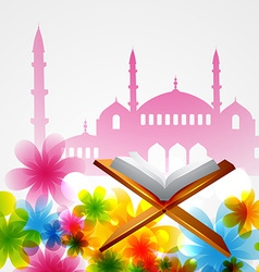 Book of quran vector