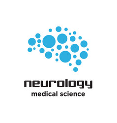 brain neurology logo vector image