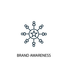 Brand awareness concept line icon simple element vector