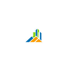 building home cityscape company logo vector image