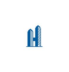 Building letter h logo icon design vector