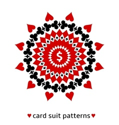 Card suit ornament with a dollar sign vector image vector image